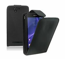Leather Flip Case Cover Pouch for Mobile Phone Sony Xperia C3 Dual SIM