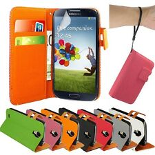 PU LEATHER WALLET FLIP CASE COVER FOR SAMSUNG GALAXY S4 i9500+SCREEN P