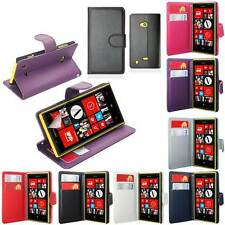 NOKIA LUMIA 720 SIDE OPENING WALLET FLIP PU LEATHER CASE COVER+SCREEN
