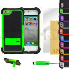 SHOCK PROOF & STAND SERIES CASE COVER FITS IPHONE 5 5S SCREEN PROTECTO