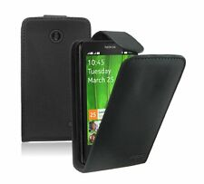 Leather Vertical Flip Case Cover Pouch for Mobile Phone Nokia X Dual S