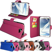 PU LEATHER WALLET CASE COVER FOR SAMSUNG GALAXY NOTE 2 N7100 + SCREEN