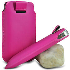 VARIOUS MOBILE PHONE HOT PINK PU LEATHER PULL TAB POUCH CASE COVER HOL