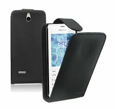 Vertical Leather Flip Case Phone Cover Pouch for Nokia 515 / Nokia 515