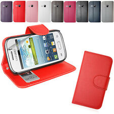 PU LEATHER WALLET CASE COVER FOR SAMSUNG GALAXY YOUNG S6310+SCREEN FIL