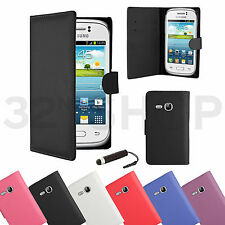 NEW WALLET PU LEATHER CASE COVER FOR SAMSUNG GALAXY Young S6310 SCREEN