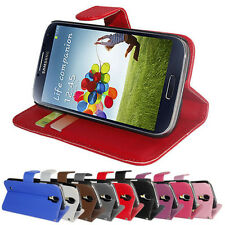 FLIP PU LEATHER WALLET CASE COVER FOR SAMSUNG GALAXY S4 i9500