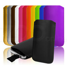 12 COLOURS PU LEATHER PULL-TAB POUCH COVER CASE SLEEVE FOR NOKIA ASHA