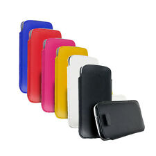 LEATHER PULL TAB CASE FOR SAMSUNG GALAXY S4 S3 S2 HTC ONE XL SLEEVE PO