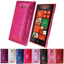 NEW HARD SPARKLING GLITTER CASE COVER FOR HTC WINDOWS 8X