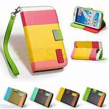 STAND WALLET LEATHER CASE COVER FOR SAMSUNG GALAXY NOTE 2 N7100 + SCRE
