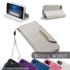 PU leather Wallet CASE COVER For BlackBerry Z10 BB 10 + SCREEN PROTECT