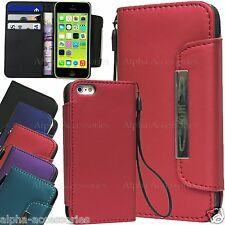 Shiny PU Leather Wallet Flip Case Cover Pouch Card Holder For Apple iP