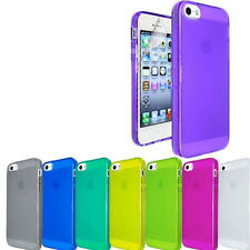 SILICONE TRANSPARENT GLOSSY PHONE CASE COVER FOR APPLE IPHONE 5 5S +SC