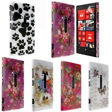 NEW TRANSPARENT PRINTED CASE FOR NOKIA LUMIA 920 + SCREEN PROTECTOR