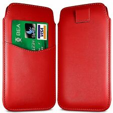 Card Slot PU Leather Pull Tab Flip Case Cover For Vodafone Smart First