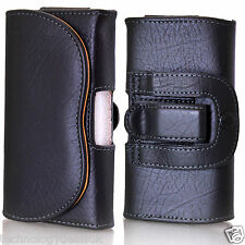 Universal Leather Belt Loop Pouch Holster Case For Mobile Phone iPhone