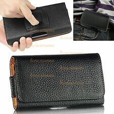 Leather Flip Belt Clip Hip Loop Holster Pouch Case Cover Smart Mobile