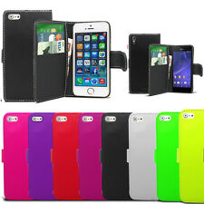 Flip Wallet Leather Case Cover Book Pouch For Apple IPhone 4 4S 5 5S 5