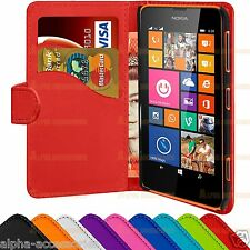 Book PU Leather Flip Wallet Case Cover Pouch Holder For Nokia Lumia 62