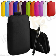 Premium PU Leather Pull Tab Case Cover For Nokia 301  (S) Size Pouch