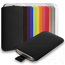 ALL COLOURS SOFT PU LEATHER PULL TAB POUCH CASE COVER FOR NOKIA ASHA 5