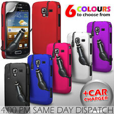 HARD BACK PROTECTIVE CASE COVER, CAR CHARGER & SP FOR SAMSUNG GALAXY A