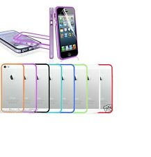 New Stylish Bumper Transparent Case Cover for APPLE iPhone 5 + Screen