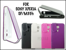 NEW PU LEATHER FLIP MOBILE PHONE CASE COVER POUCH FOR SONY XPERIA SP