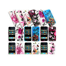 FOR APPLE IPOD TOUCH 4 4G STYLISH BUTTERFLY FLORAL CASE COVER+SCREEN P