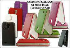 NEW STYLISH LEATHER FLIP PHONE CASE COVER FOR SAMSUNG GALAXY S4 MINI I