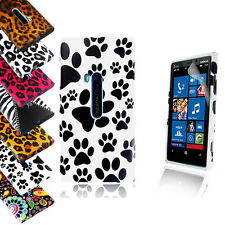 STYLISH PRINTED TPU GEL CASE COVER FOR NOKIA LUMIA 920+SCREEN PROTECTO