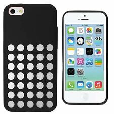 DOT HOLE CLEAR SOLID SILICONE TPU GEL CASE COVER FOR APPLE iPhone 5C