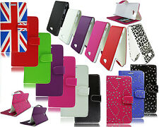 NEW LEATHER FLIP WALLET CASE FOR SONY XPERIA M2 S50H D2305 D2306 + SCR