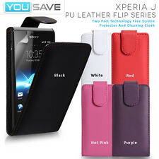 Accessories For The Sony Xperia J ST26i PU Leather Flip Phone Case Cov