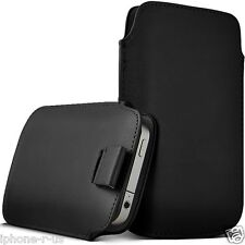 Small Premium PU Leather Pull Tab Pouch Case Cover For Nokia Lumia 620