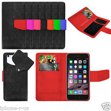 7 Colour Suction Wallet Flip Mobile Phone Case Cover For Apple iPhone