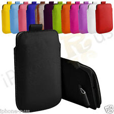 Premium PU Leather Pull Tab Pouch Case Cover For Blackberry Bold Touch