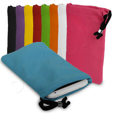 Soft Velvet Drawstring Pouch Carry Case Cover Fits Apple iPhone 4 / 4S