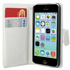 IPHONE 5C SIDE OPENING WALLET FLIP PU LEATHER CASE COVER
