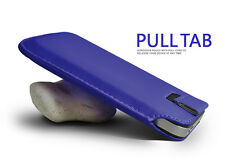Blue Pull Tab PU Leather Case Cover Pouch Slide In Sleeve