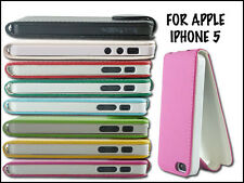 NEW PU LEATHER FLIP MOBILE PHONE CASE COVER POUCH FOR APPLE I PHONE 5