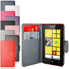 NEW SIDE OPENING PU LEATHER WALLET CASE COVER FOR NOKIA LUMIA 520