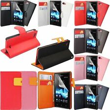 Pu Leather Hexagon/Flip Wallet Flip Case Cover For Sony Xperia-J ST26i