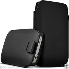 SMALL Premium PU Leather Pull Tab Pouch Case Cover For Nokia Asha 210