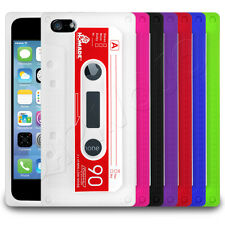 Retro Old Skool Cassette Tape Silicone Case Cover Skin fits Apple iPho
