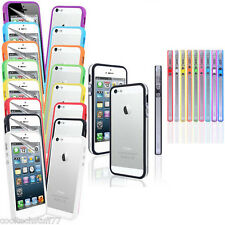 For APPLE iPhone 5 5G 5S TPU Gel Bumper Ring Case Cover+Free Screen Pr