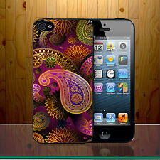 Paisley Pattern Indian Style Retro Floral Luminous Colour Hard Phone C