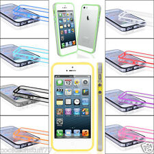FOR APPLE iPhone 5 New Stylish Bumper Series Case Cover with Metal But