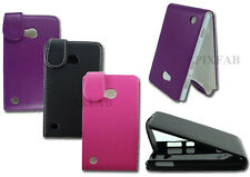 NEW BLACK PU LEATHER FLIP MOBILE PHONE CASE COVER POUCH FOR NOKIA LUM